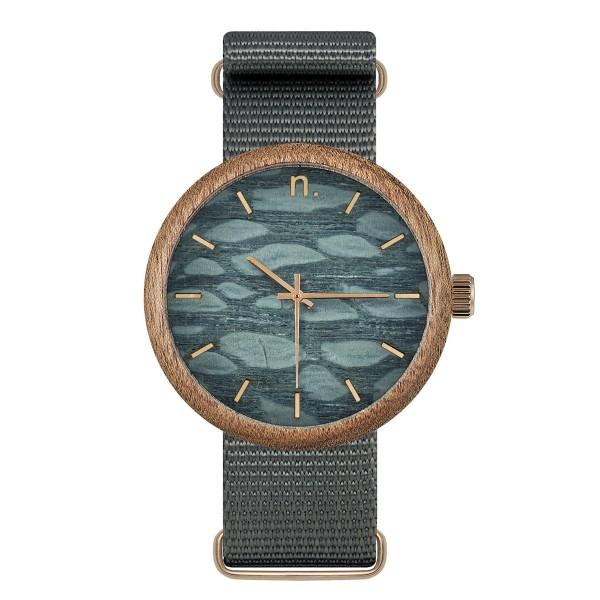 Drewniany zegarek new hoop 43 n056